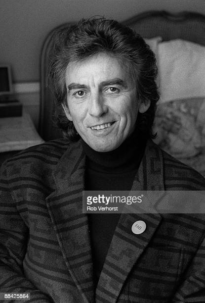 Photo of George HARRISON Posed portrait of former Beatle at the Amstel Hotel Amsterdam