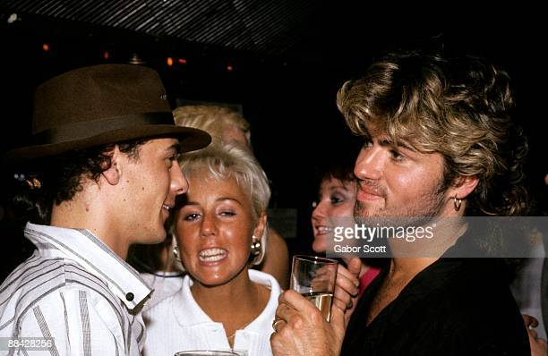 Photo of George MICHAEL and PEPSI AND SHIRLIE and WHAM LR Shirley Holliman George Michael