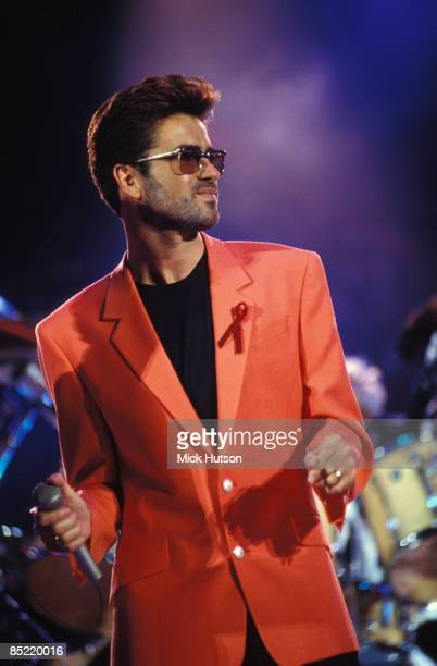 Photo of George MICHAEL; performing at the Freddie Mercury Tribute gig