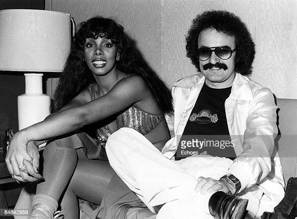 Photo of Giorgio MORODER and Donna SUMMER Donna Summer with Giorgio Moroder