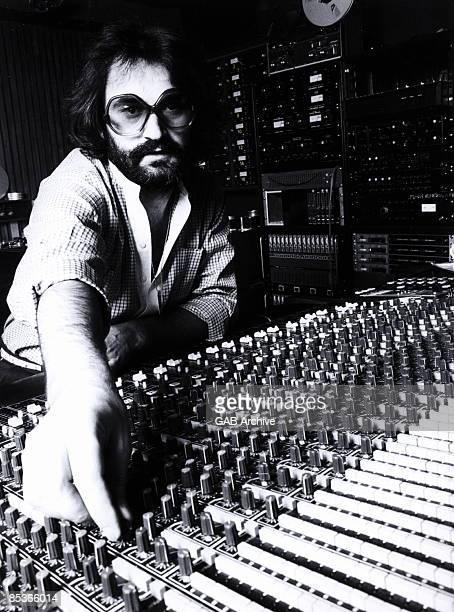 Photo of Giorgio MORODER producer posed at mixing desk