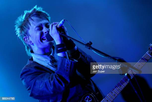 FESTIVAL Photo of Glastonbury 2003 Pic shows Radiohead Thom Yorke