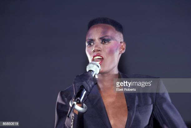 UNITED STATES AUGUST 05 SAVOY Photo of Grace JONES performing live onstage