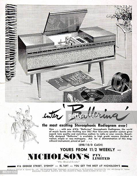 Photo of GRAMOPHONE Radiogram advert