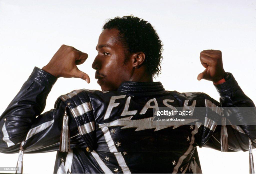 Photo of Grandmaster Flash; Grandmaster Flash photographed in New York City, 1985