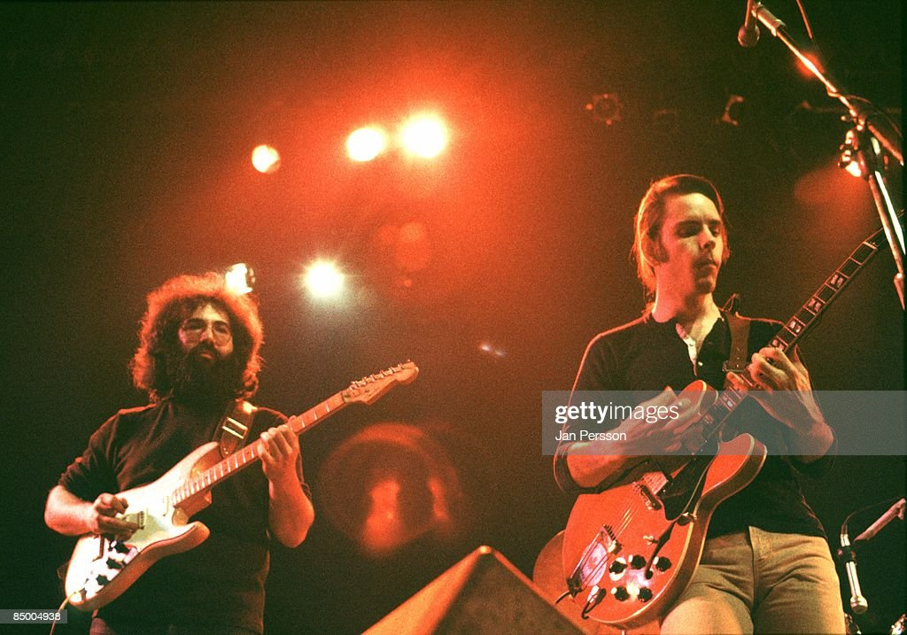Photo of Grateful Dead 13; Jerry Garcia & Bob Weir Copenhagen April 1972