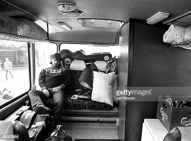 Photo of Grateful Dead 21 Pig Pen Ron McKernan in the tourbus Copenhagen April 1972