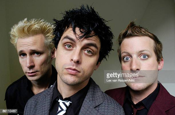 NETHERLANDS OCTOBER 26 Photo of GREEN DAY Mike Dirnt Billie Joe Armstrong Tre Cool