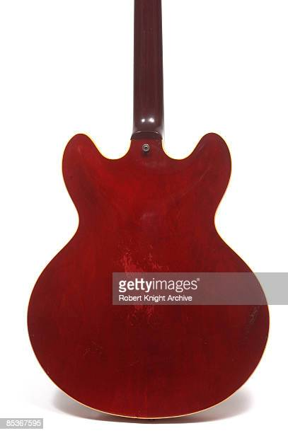 Photo of GUITAR and Eric CLAPTON and GIBSON ES300 SERIES GUITARS Eric Clapton's Gibson ES335 guitar still life studio