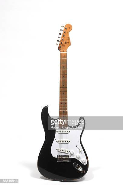 Photo of GUITAR and FENDER STRATOCASTER and Eric CLAPTON Eric Clapton's hybrid Fender Stratocaster Blackie still life studio