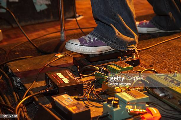 Photo of GUITARIST and INSTRUMENTS and ELECTRIC GUITARS and GUITAR PEDALS