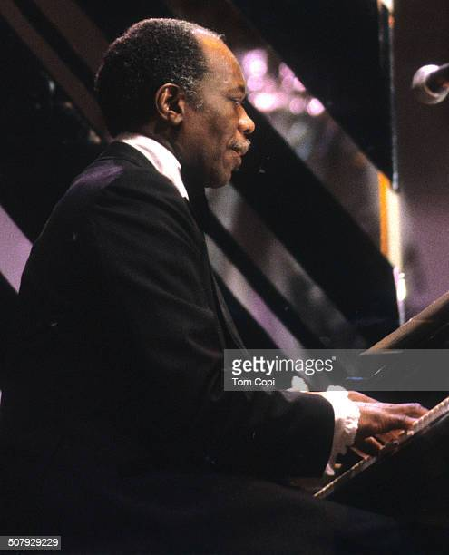 Photo of Hank Jones performing in Monterey California Circa 1977