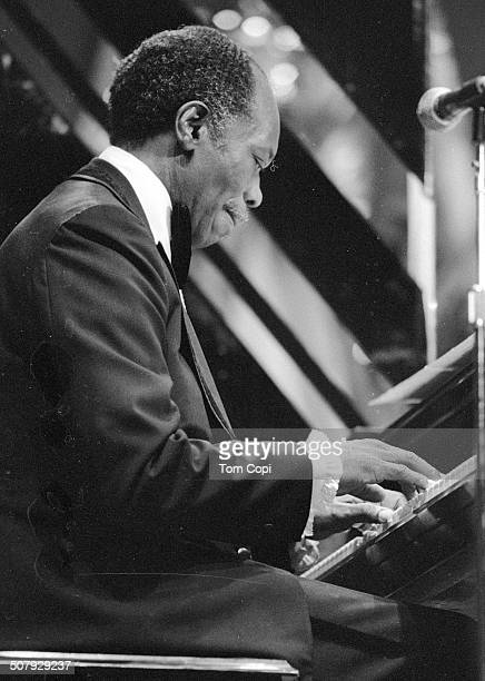 Photo of Hank Jones performing in Monterey California Circa 1977