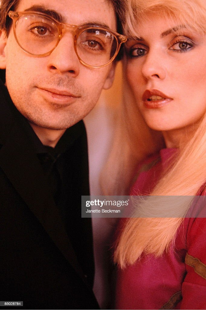 Photo of Harry, Debbie & Stein, Chris; Chris Stein and Debbie Harry of Blondie, London, May-82, **NO