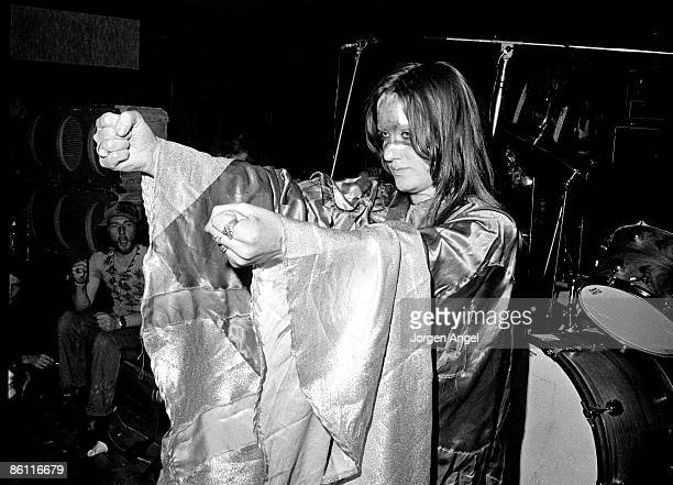 Photo of HAWKWIND and STACIA; Stacia, performing live onstage with Hawkwind - dancing