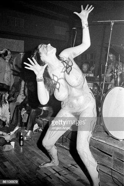 Photo of HAWKWIND; Hawkwind - dancer Stacia., Copenhagen, 1972