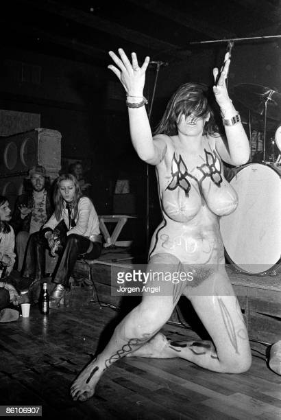 Photo of HAWKWIND; Hawkwind - dancer Stacia., Copenhagen, Denmark 1972