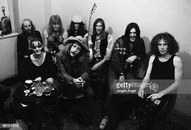Photo of HAWKWIND; ID#: HawkBWA 12A, Hawkwind with Stacia., England, April 1972
