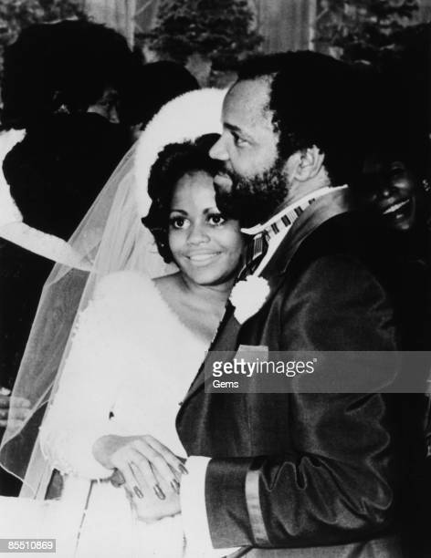 Photo of Hazel GORDY and Berry GORDY Motown boss Berry Gordy with his daughter Hazel at her wedding to Jermaine Jackson