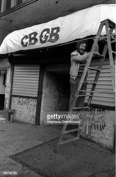 Photo of Hilly Kristal at CBGB's in New York