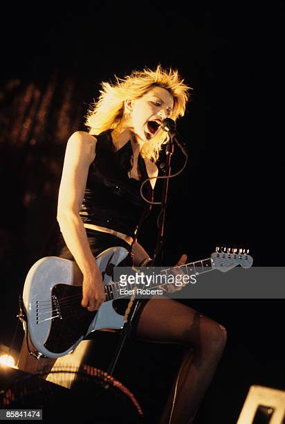 LOLLAPALOOZA Photo of HOLE and Courtney LOVE Courtney Love performing on stage at Randalls Island