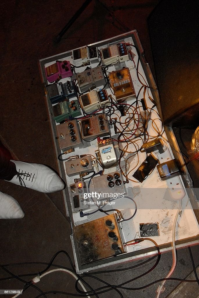 https://www gettyimages com/detail/news-photo/photo-of-horrors-guitar-effects-pedals-in-rack-on-stage-news-photo/86129849