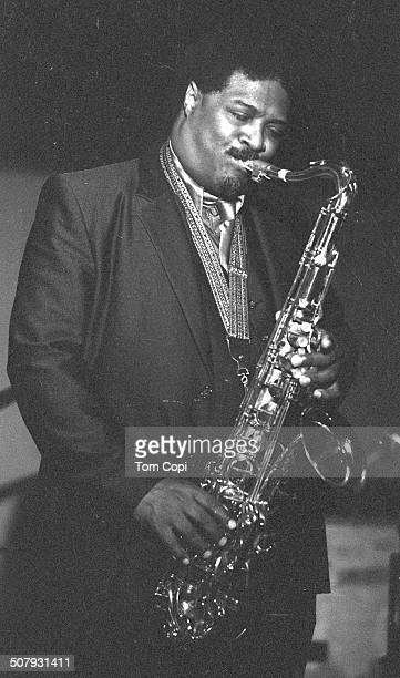 Photo of Houston Person performing in Oakland, California. Circa 1981