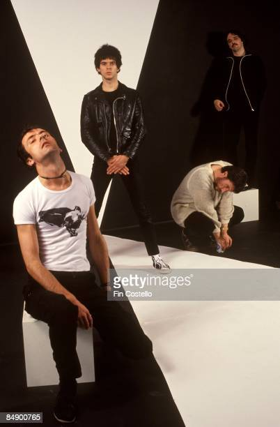 Photo of Hugh CORNWELL and Dave GREENFIELD and STRANGLERS and Jet BLACK and Jean-Jacques BURNEL; L-R: Hugh Cornwell, Jean-Jacques Burnel, Jet Black,...