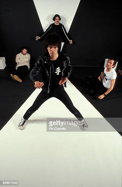 Photo of Hugh CORNWELL and Jet BLACK and STRANGLERS and Dave GREENFIELD and Jean-Jacques BURNEL; L-R: Jet Black, Jean-Jacques Burnel , Dave...
