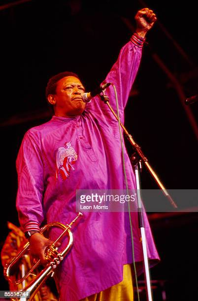 Photo of Hugh MASEKELA Hugh Masekela performig on stage