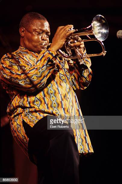 CENTER Photo of Hugh MASEKELA performing live onstage