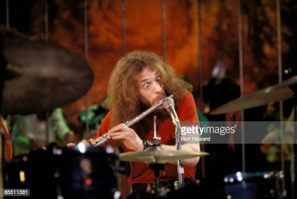 POPS Photo of Ian ANDERSON and JETHRO TULL Ian Anderson performing live onstage playing flute
