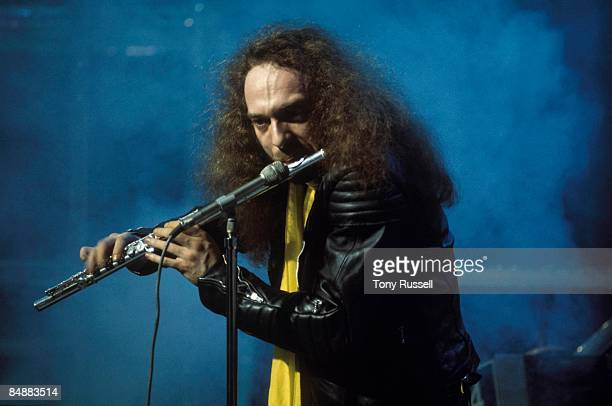 LWT Photo of Ian ANDERSON and JETHRO TULL Ian Anderson performing on LWT TV show 'Supersonic' playing flute