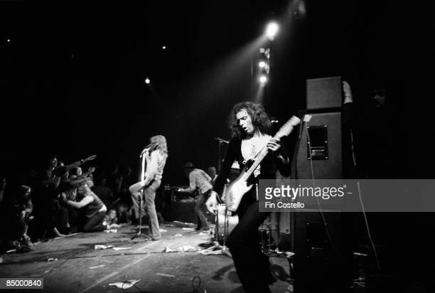 THEATRE Photo of Ian GILLAN and Ritchie BLACKMORE and DEEP PURPLE Ian Gillan Roger Glover and Ritchie Blackmore performing live onstage sheet 54