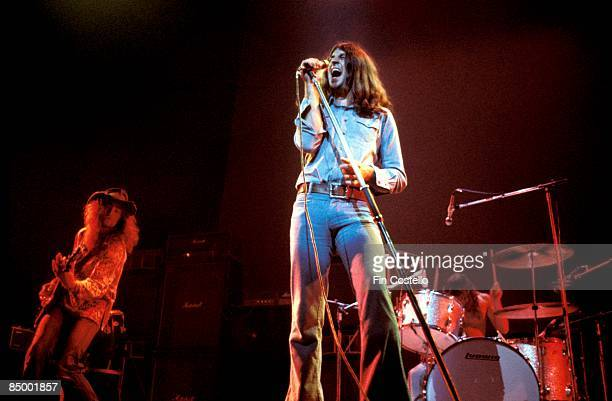 THEATRE Photo of Ian GILLAN and Roger GLOVER and DEEP PURPLE Roger Glover and Ian Gillan performing live onstage