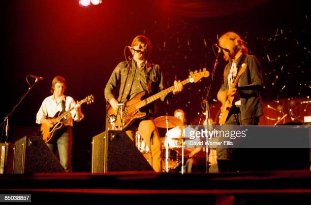 Photo of Ian GOMM and Billy RANKIN and Nick LOWE and BRINSLEY SCHWARZ, L-R: Brinsley Schwarz, Nick Lowe, Billy Rankin, Ian Gomm - performing live...
