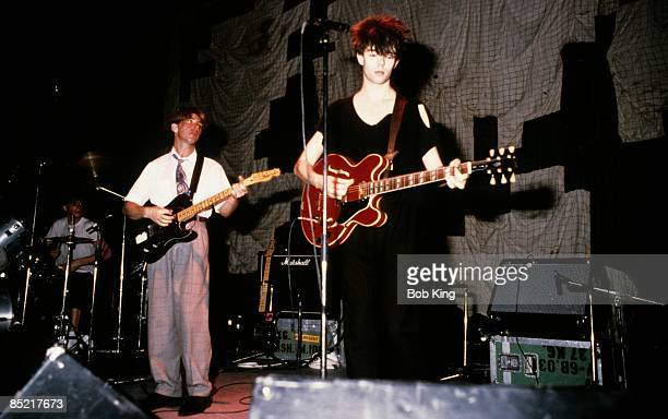 Photo of Ian McCULLOCH and Will SERGEANT and ECHO AND THE BUNNYMEN LR Will Sergeant Ian McCulloch
