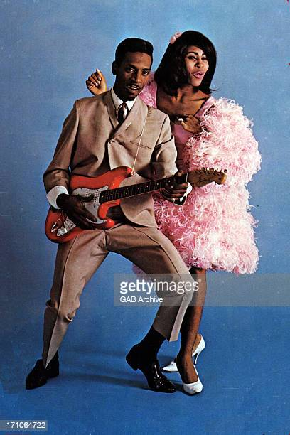 Photo of Ike Turner and Tina Turner posed circa 1964