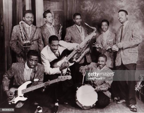 Photo of Ike TURNER Ike TURNER's Kings Of Rhythm back row l to r Jackie Brenston Raymond Hill Eddie jones Fred Sample Billy Gayles front row l to r...