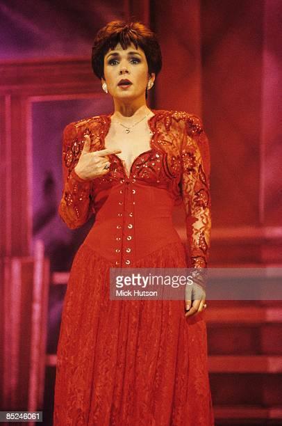 Photo of Irish singer DANA performing live on stage circa 1990