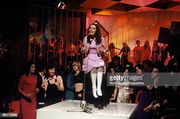 POPS Photo of Irish singer DANA performing live on Top Of The Pops circa 1970