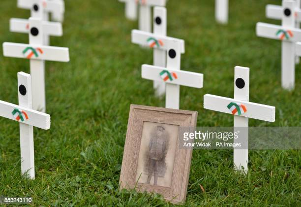 A photo of Irish soldier Lance Corporal Patrick Broderick killed in 1917 in Ypres as relatives of Irish war dead and campaigners seek to preserve one...