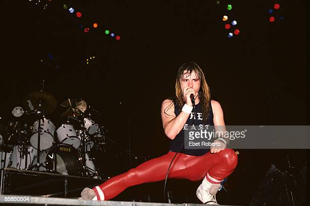 GARDEN Photo of IRON MAIDEN and Bruce DICKINSON Bruce Dickinson performing live onstage