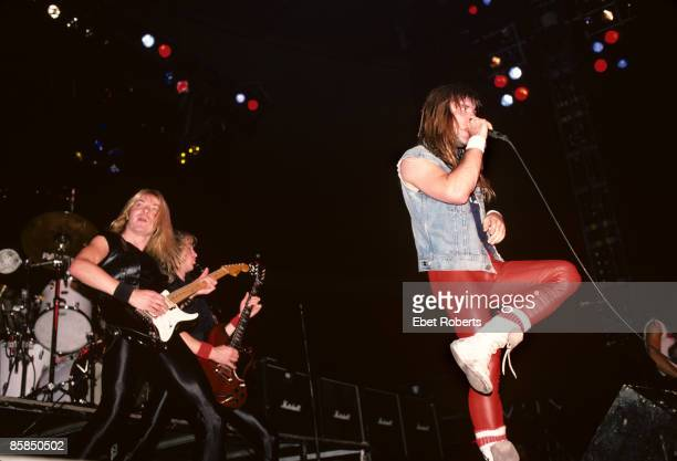GARDEN Photo of IRON MAIDEN and Dave MURRAY and Adrian SMITH and Bruce DICKINSON Dave Murray Adrian Smith and Bruce Dickinson performing live onstage
