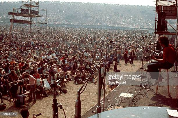 FESTIVAL Photo of ISLE OF WIGHT FESTIVAL Event 1970 The audience listen to English folk singer Ralph McTell at the Isle Of Wight Festival