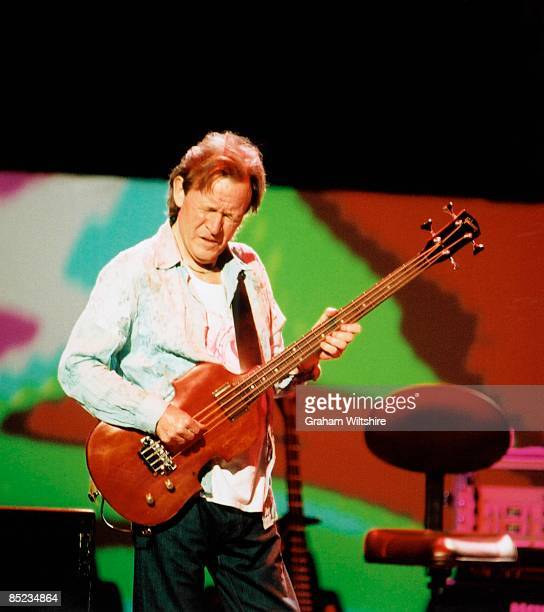 HALL Photo of Jack BRUCE and CREAM Jack Bruce performing live onstage at reunion concert playing Gibson EB1 bass guitar