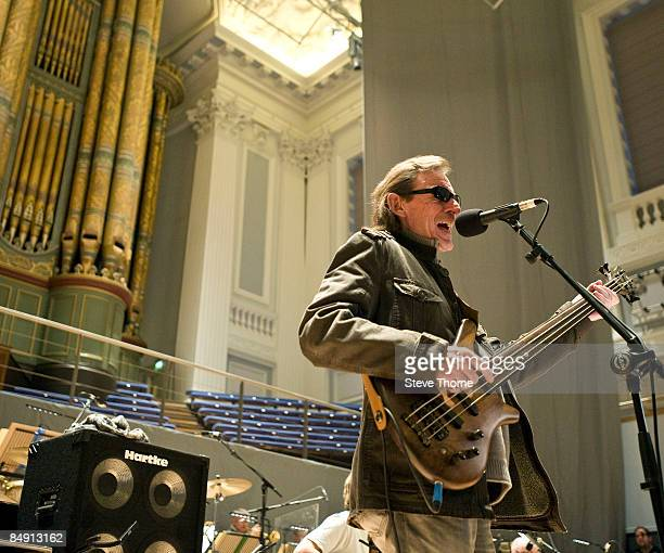 HALL Photo of Jack BRUCE Jack Bruce performing a soundcheck with the BBC Big Band