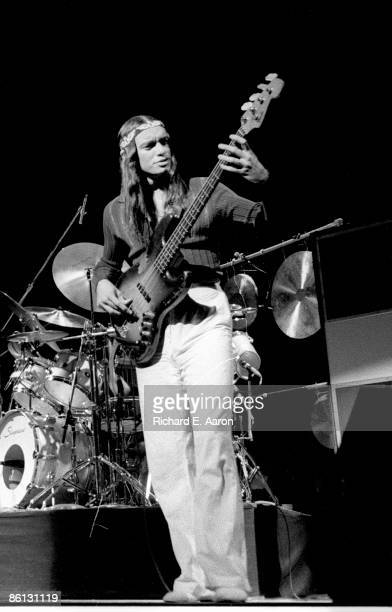 Photo of Jaco PASTORIUS and WEATHER REPORT; Jaco Pastorius performing on stage