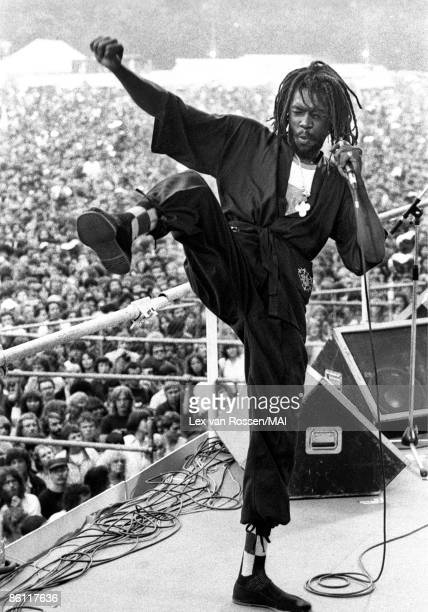 NETHERLANDS circa 1980 Photo of Jamaican reggae singer Peter TOSH performing live on stage circa 1980