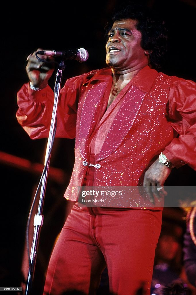 Photo of James BROWN; performing live onstage